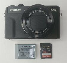 Canon PowerShot G7 X Mark II Digital Camera - READ - Crack on Screen