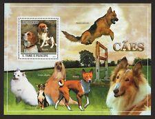 German Shepherd, Beagle, Basenji * Int'l Dog Postage Stamp Art*Great Gift Idea*
