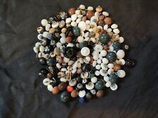 old vintage buttons. china , domed & coned metal shank for shoes and other good