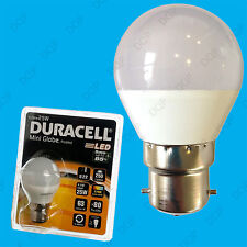4x 4W (=25W) Duracell LED Frosted Mini Globe BC B22 Round G45 Light Bulb Lamp