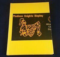 James Madison High School Yearbook 1981 Milwaukee Wisconsin Yellow 80s Annual