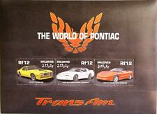 Maldives Maldives 2000 KLB 3674-79 bloc 480 pontiac trans am Cars voitures MNH