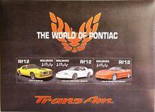 MALDIVES MALEDIVEN 2000 Klb 3674-79 Block 480 Pontiac Trans Am Cars Autos MNH