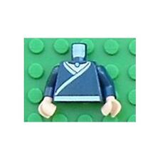 LEGO - Minifig, Torso Avatar Robe White Trim & Belt, Light Blue Necklace Gem