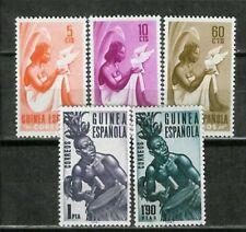 Spanish GUINEA ESPAÑOLA  Edifil # 325/329 ** Basica definitives