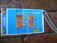 2004 BOXING KANGAROO SWIMMING PRESTIGE BOOKLET PANE COVER