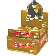 Smoking GOLD King Size Papers 25 x 33 Blättchen Long Papers Original