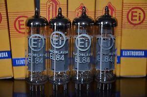EL84 6BQ5 EI Mullard - NOS platinum matched quad Made in Yugoslavia Philips tool