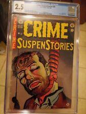 Crime SuspenStories #20 CGC 2.5 OW *PreCode Classic E.C. Hanging Cover* PRESS IT