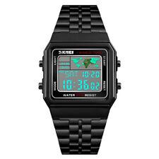 Waterproof SKMEI Men's Stainless Steel LED Digital Sport Quartz Wrist Watch Gift