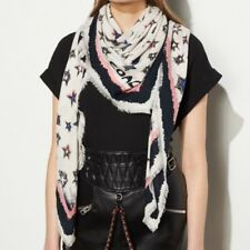 New! COACH Skystars Oversized Square SCARF (White) Style #57379 *So Soft!