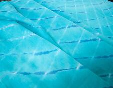 2 Yards Turquoise Blue Like Water Hand-Dyed Fabric Mothara & Shibori Tradition