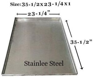 """Dog Crate Tray Pet Crate Pan Galvanized Chew Proof Dog Crate 35-1/2""""x23-1/4""""x1"""""""