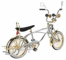 "LOWRIDER BICYCLE 16"" CHROME & GOLD  52 SPOKE LOWRIDER BIKE"