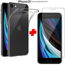 Cover per Apple iPhone SE 2020 + Pellicola Vetro Temperato Custodia Silicone Tpu