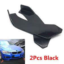 2Pcs Car Front Bumper Splitter Lip Body Protector Diffuser Spoiler Universal