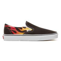 Vans Classic Slip-On Flame Sneaker Uomo VN0A38F7PHN1 Black Black True White