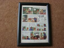 "Tintin - Red Sea Sharks - ""Bang"" - mounted & framed page"