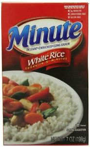 Minute Rice White Rice, 7 Ounce (Pack of 24)