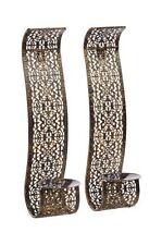 Gardman Set of 2 Arabian Wall Sconces - Antique Brass Finish a