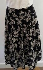 Pleated Machine Washable Floral 100% Cotton Skirts for Women