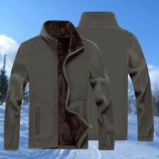 Men Winterwear Jacket Coat Thicken Warm Outdoor Zipper Choker Black Long Sleeve