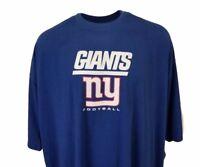 New York Giants Majestic NFL T-Shirt Blue & Black Heathered Mens Big & Tall, nwt