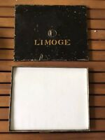RARE Antique Limoge Blank Plaque Tile in Tole Stencil Box France