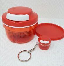 Tupperware Chop N Prep Chef Chopper Non Electric Time Saver w/Keychain New