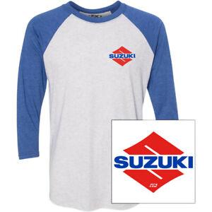 Factory Effex Suzuki Wedge T-Shirt (White / Royal Blue) Choose Size