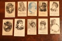 Lot of 29 Rare Actress Advertising Trade Cards Burlesque, Sideshow, Theater