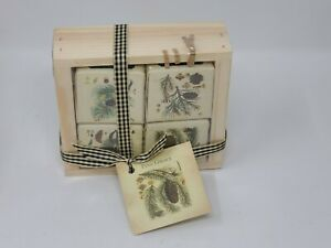 Pine Grove Soap Set in Wood Tray