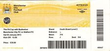 Ticket - Manchester City v Watford 05.01.13 FA Cup