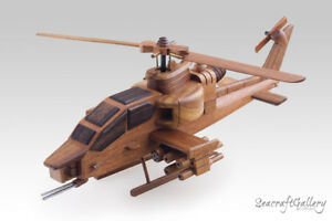 THE BELL AH-1 COBRA HELICOPTER  WOODEN SCALE MODEL MILITARY AIRCRAFT GREAT GIFTS