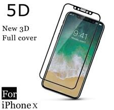 iPhone X 5D Curved Edge Full Coverage Tempered Glass Screen Protector For Apple