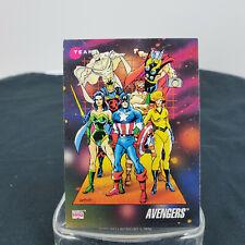 Team Avengers 1992 Marvel Team Leader Captain America #171 Impel