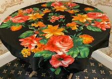 VINTAGE FLORAL BOTANICAL ROSE & LILLY SATIN EXQUISITE SQUARE SCARF 33 x 33