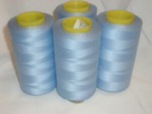 4 CONES BABY BLUE COMETA  5000 YDS SEWING MACHINE OVERLOCK THREAD  FREE DELIVERY