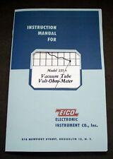 EICO Model 221A Vacuum Tube Volt-Ohm-Meter  Instruction Manual