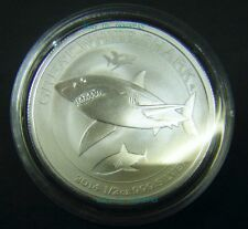 2014 Australian Great White Shark 1/2 oz Silver Coin 0.5 round w Capsule 50 cent