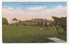 Radio Cadets Drill Scott Air Field Illinois 1940s postcard
