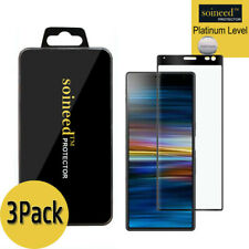 3-Pack Sony Xperia 10 Plus 3D Curved FULL COVER Tempered Glass Screen Protector