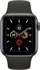 Apple Watch Series 5 GPS Space Grey with Black Sport Band - S/M & M/L