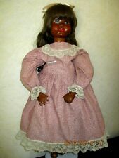 "1987 28"" Handcarved Wood Foldk Art Doll~Jane Huff-Oregon~Wood Head~Hands~Boots"