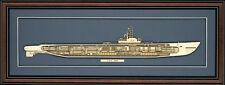 Wood Cutaway Model of WW II Submarine USS Gato (SS-212) - Made in the USA
