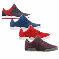 Supra Mens Ellington Lace Up Active Gym Lo Tops Grey Navy Red Burgundy Trainers