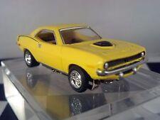 71 Plymouth Hemi CUDA  Shaker Hood Yellow  HO scale slot car T-jet Cool Wheels