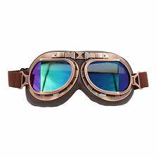 Leather Vintage Motorcycle Goggles Aviator Pilot Retro Helmet Driving Glasses