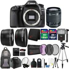Canon EOS 80D 24.2MP Digital SLR Camera with 18-55mm Lens and 24GB Accessory Kit