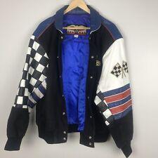 1990s Indianapolis Motor Speedway Zip Leather Cotton JHDesign Sz Medium